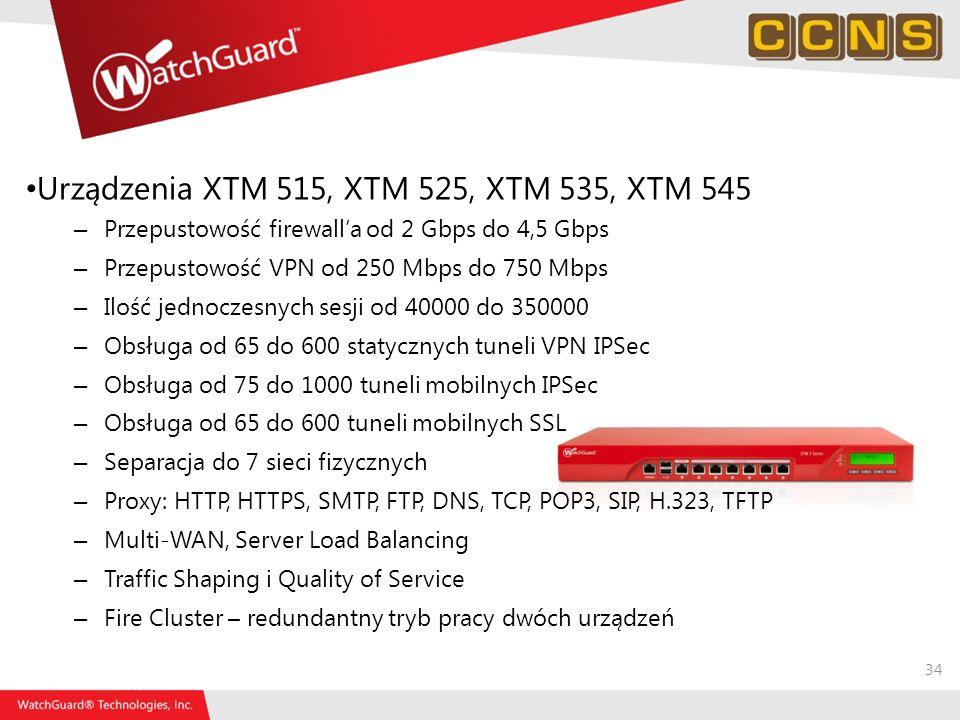 Urządzenia XTM 515, XTM 525, XTM 535, XTM 545