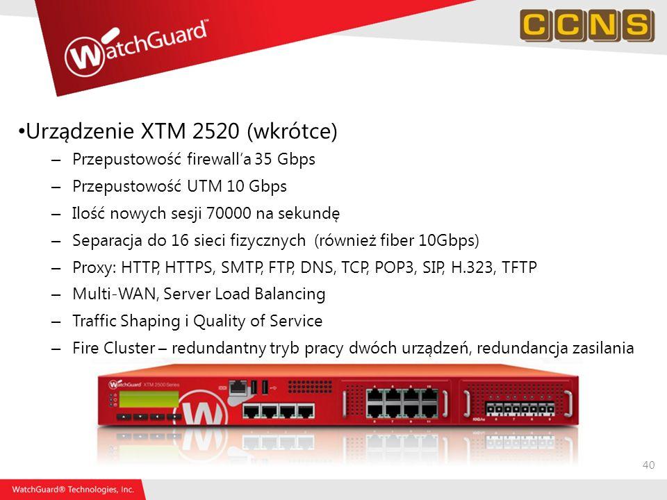 Urządzenie XTM 2520 (wkrótce)
