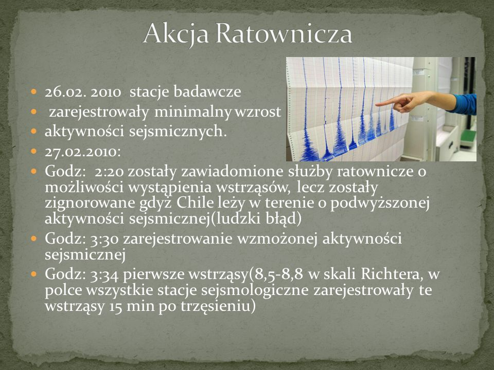 Akcja Ratownicza 26.02. 2010 stacje badawcze