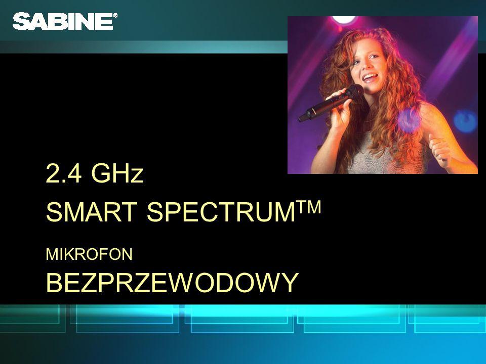 2.4 GHz SMART SPECTRUMTM MIKROFON BEZPRZEWODOWY