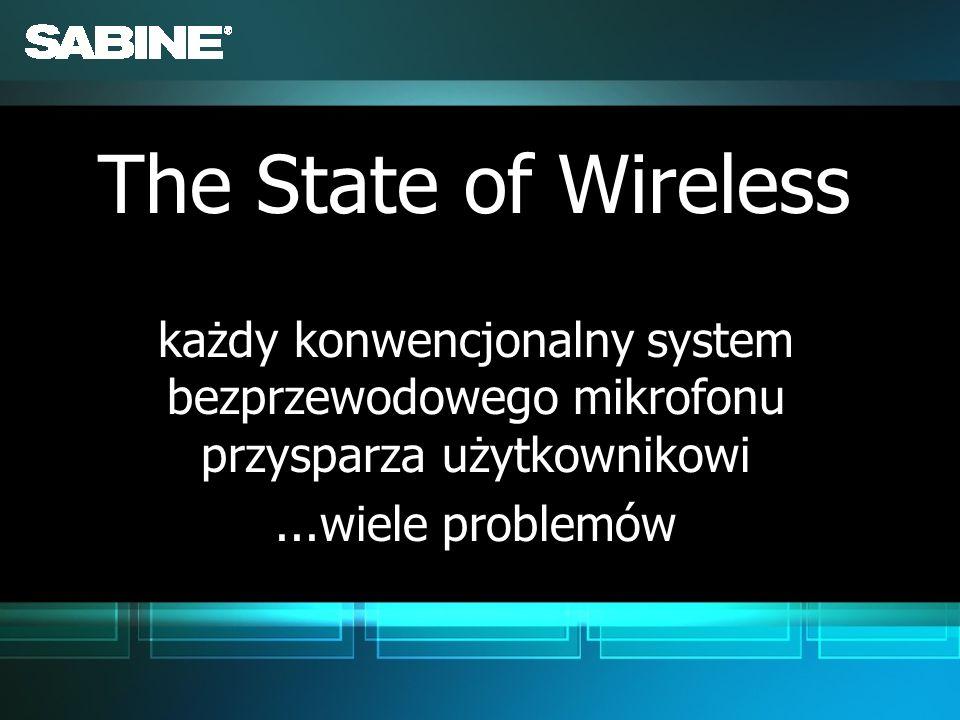 The State of Wirelesskażdy konwencjonalny system bezprzewodowego mikrofonu przysparza użytkownikowi.