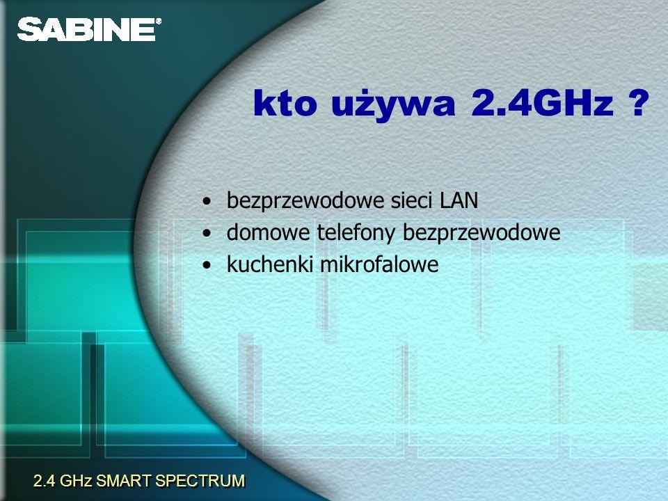 kto używa 2.4GHz bezprzewodowe sieci LAN