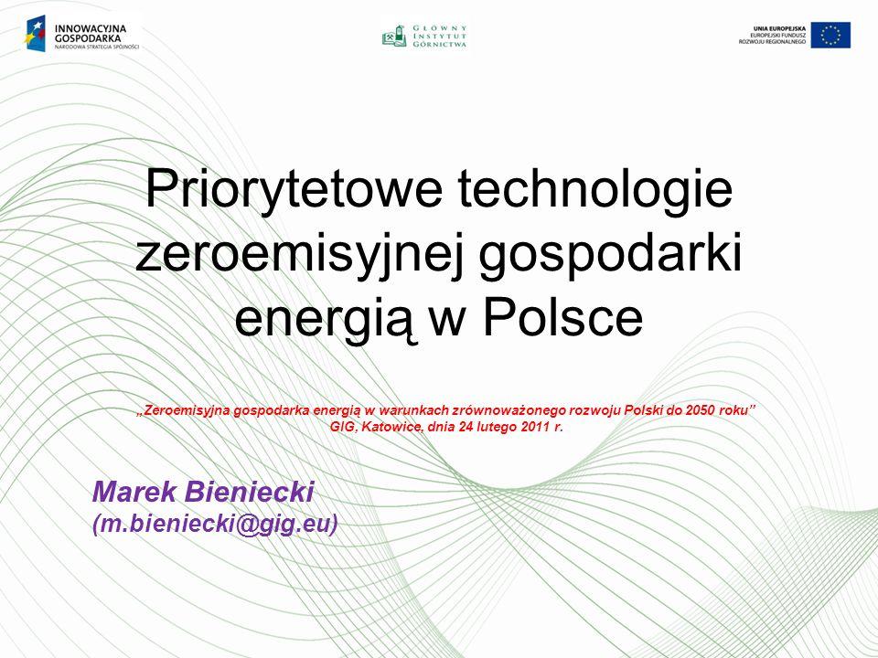 Priorytetowe technologie zeroemisyjnej gospodarki energią w Polsce