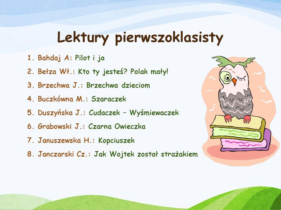 Lektury pierwszoklasisty
