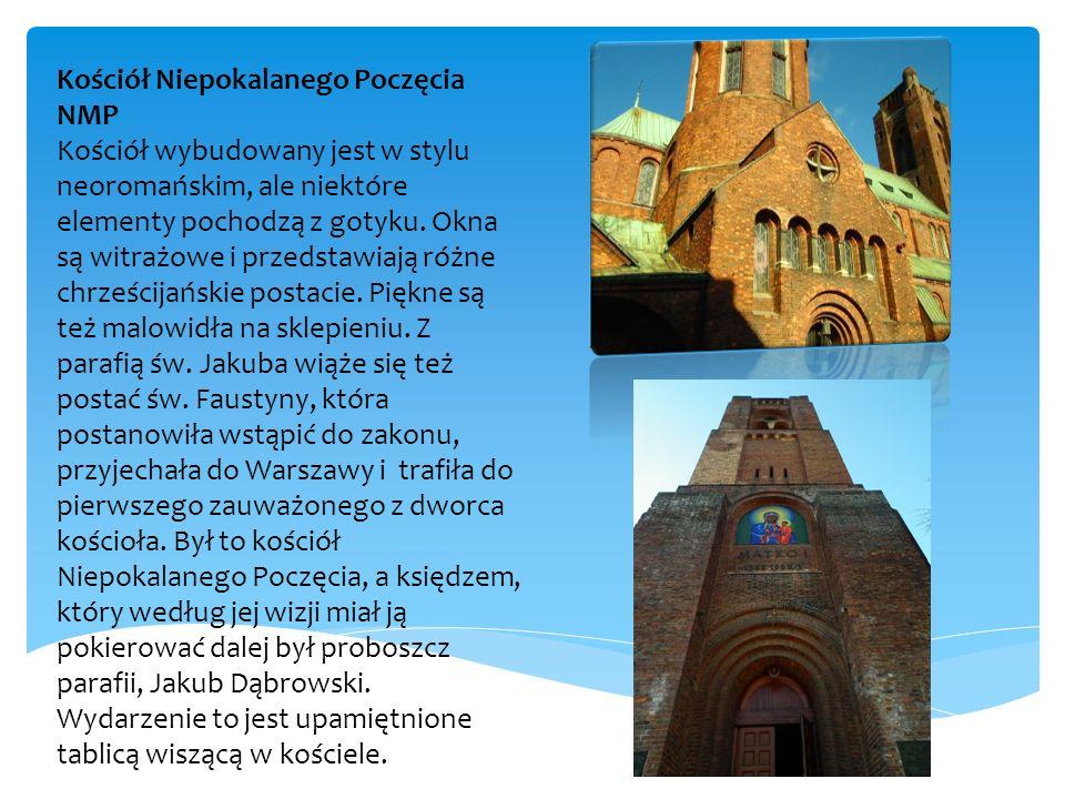 Kościół Niepokalanego Poczęcia NMP Kościół wybudowany jest w stylu neoromańskim, ale niektóre elementy pochodzą z gotyku.