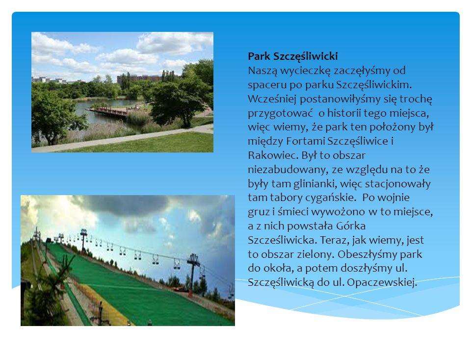 Park Szczęśliwicki Naszą wycieczkę zaczęłyśmy od spaceru po parku Szczęśliwickim.