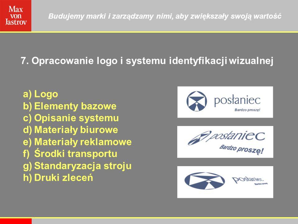 7. Opracowanie logo i systemu identyfikacji wizualnej