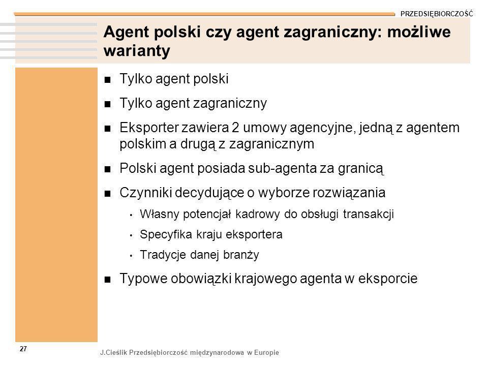 Agent polski czy agent zagraniczny: możliwe warianty