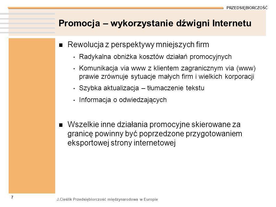 Promocja – wykorzystanie dźwigni Internetu