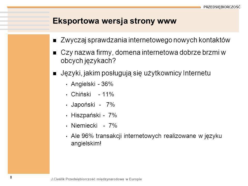 Eksportowa wersja strony www