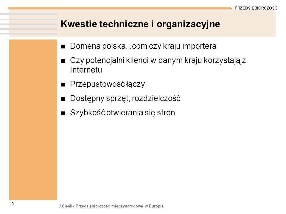 Kwestie techniczne i organizacyjne