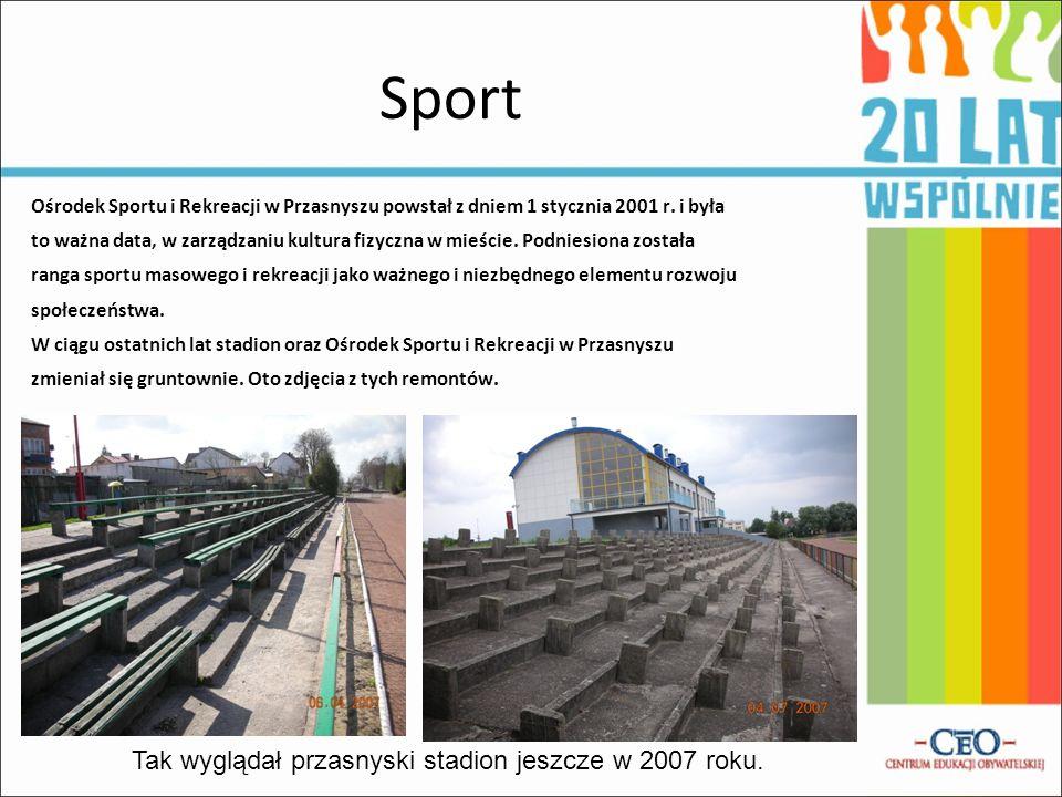 Tak wyglądał przasnyski stadion jeszcze w 2007 roku.