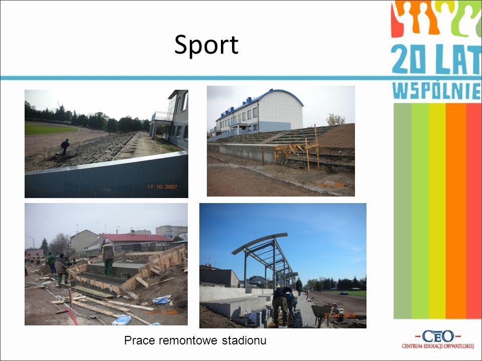 Prace remontowe stadionu