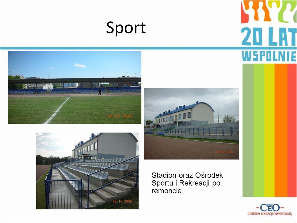 Sport Stadion oraz Stadion oraz Ośrodek Sportu i Rekreacji po remoncie