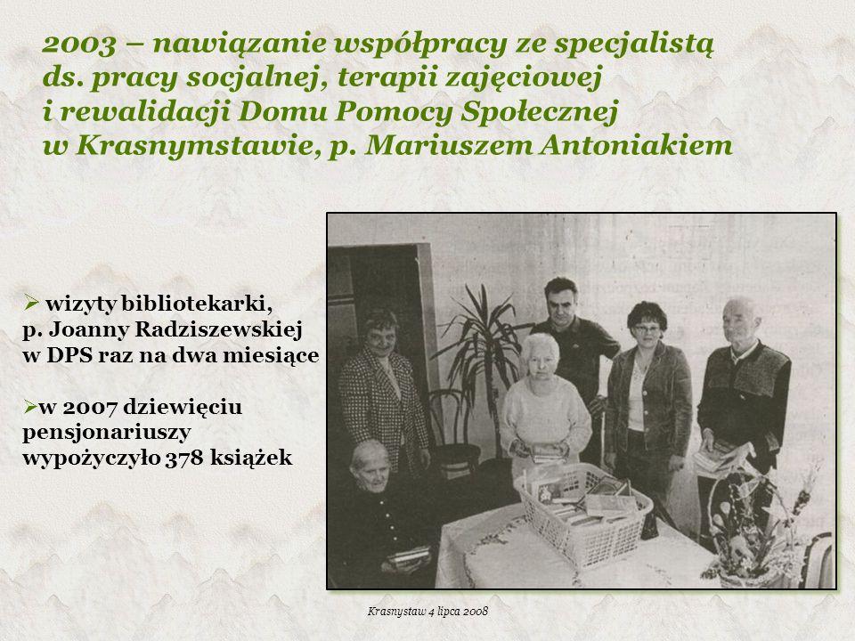 2003 – nawiązanie współpracy ze specjalistą ds