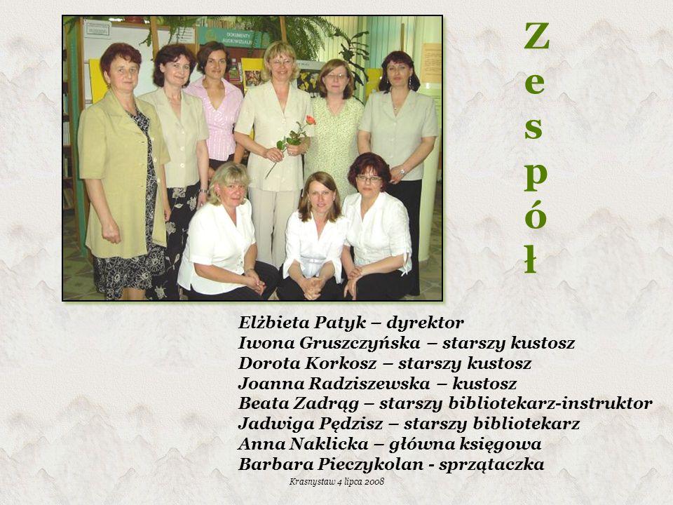 Z e s p ó ł Elżbieta Patyk – dyrektor