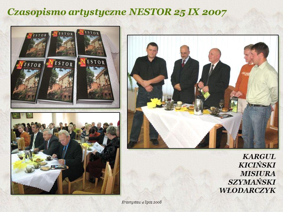 Czasopismo artystyczne NESTOR 25 IX 2007