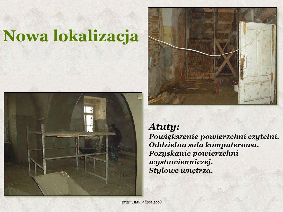 Nowa lokalizacja Atuty: Powiększenie powierzchni czytelni.