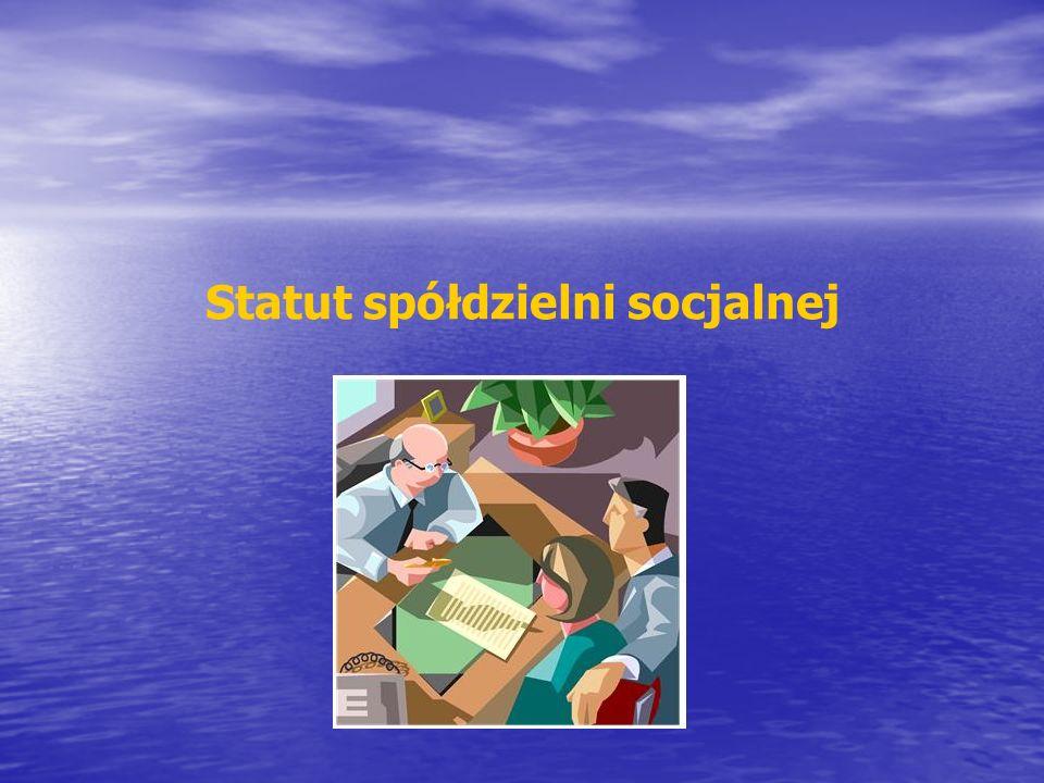 Statut spółdzielni socjalnej