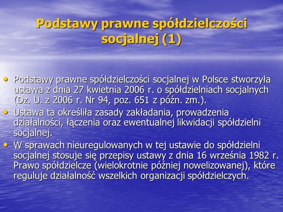 Podstawy prawne spółdzielczości socjalnej (1)