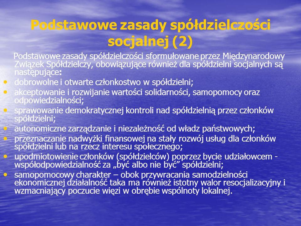 Podstawowe zasady spółdzielczości socjalnej (2)