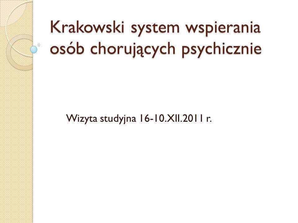 Krakowski system wspierania osób chorujących psychicznie