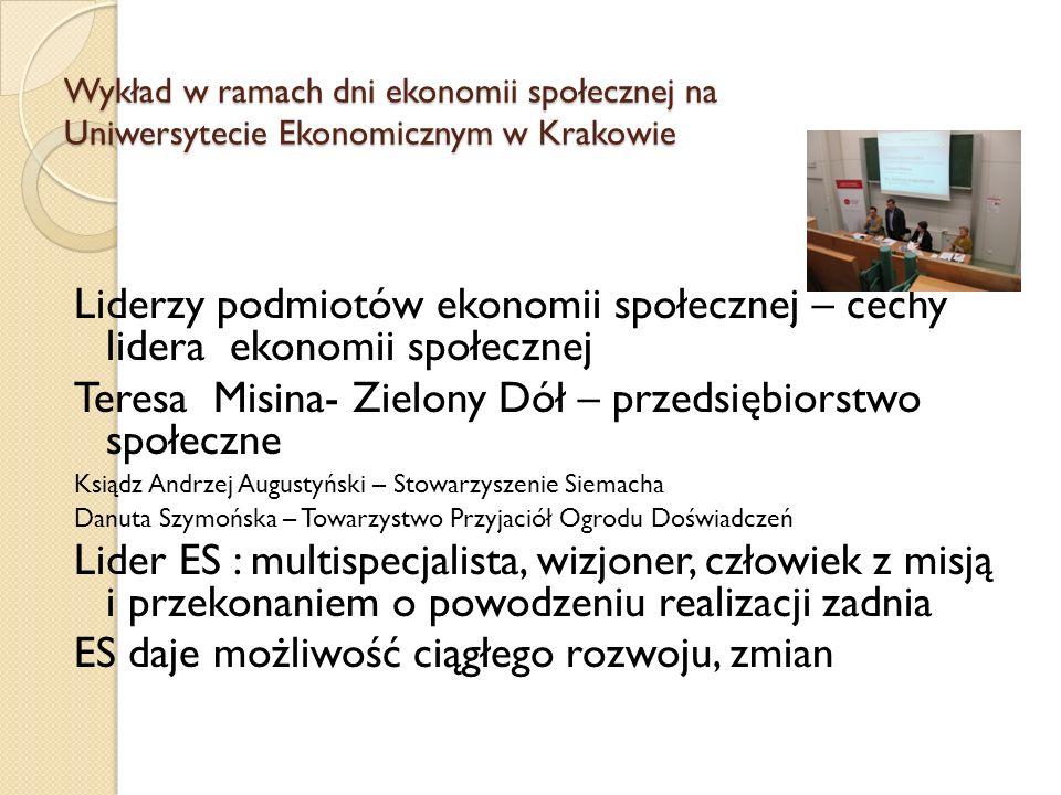 Teresa Misina- Zielony Dół – przedsiębiorstwo społeczne