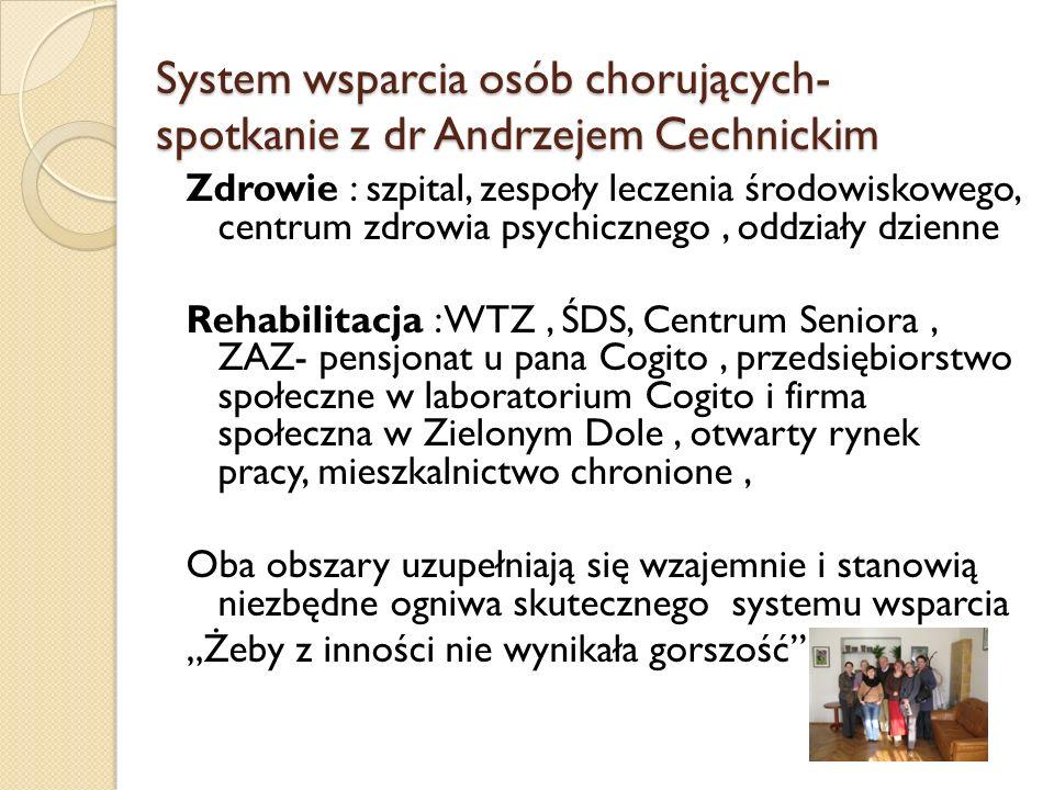 System wsparcia osób chorujących-spotkanie z dr Andrzejem Cechnickim