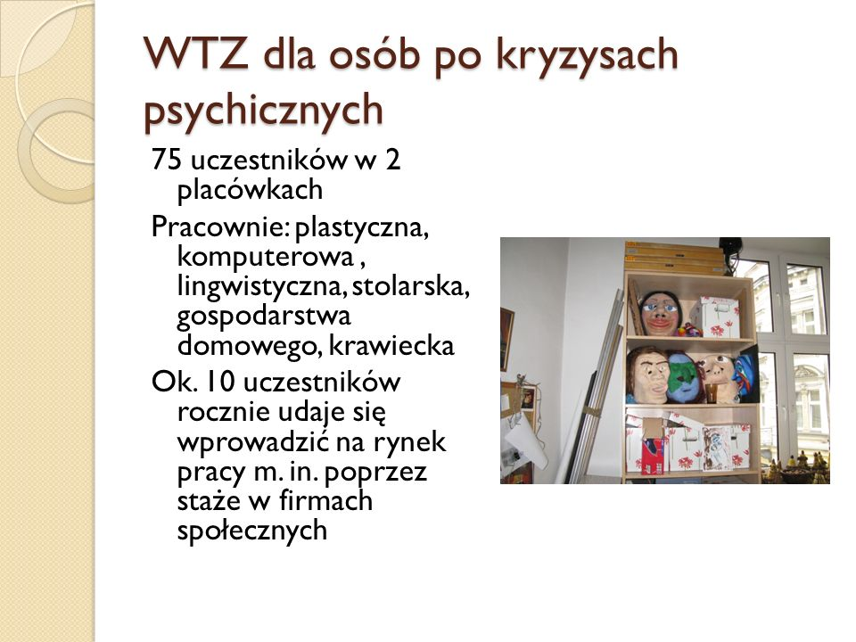 WTZ dla osób po kryzysach psychicznych