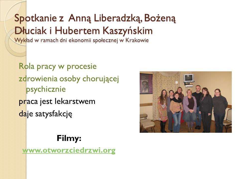 Spotkanie z Anną Liberadzką, Bożeną Dłuciak i Hubertem Kaszyńskim Wykład w ramach dni ekonomii społecznej w Krakowie