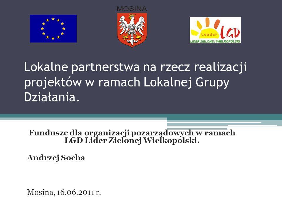 Lokalne partnerstwa na rzecz realizacji projektów w ramach Lokalnej Grupy Działania.