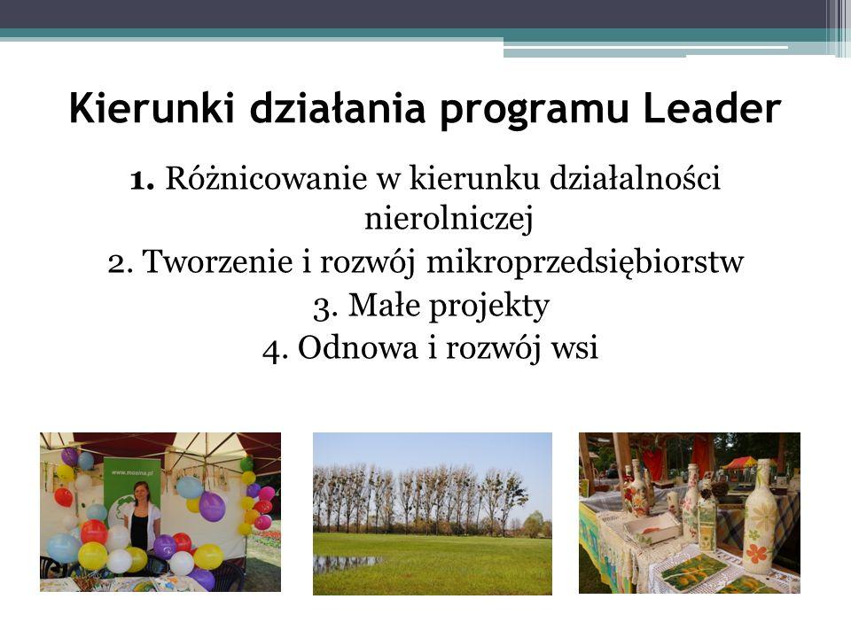 Kierunki działania programu Leader