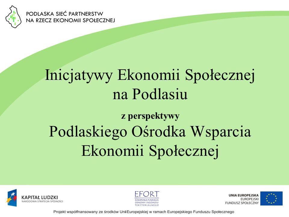 Inicjatywy Ekonomii Społecznej na Podlasiu z perspektywy Podlaskiego Ośrodka Wsparcia Ekonomii Społecznej