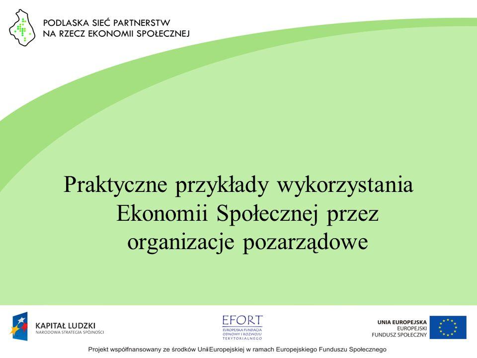 Praktyczne przykłady wykorzystania Ekonomii Społecznej przez organizacje pozarządowe