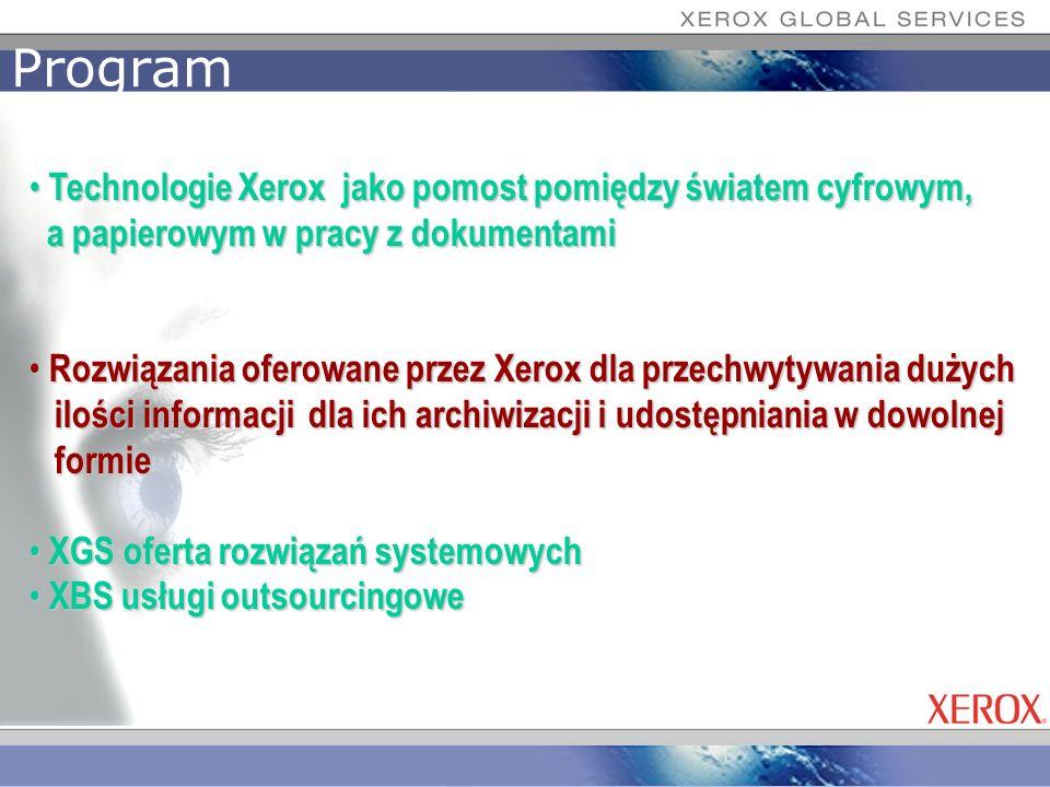Program Technologie Xerox jako pomost pomiędzy światem cyfrowym,