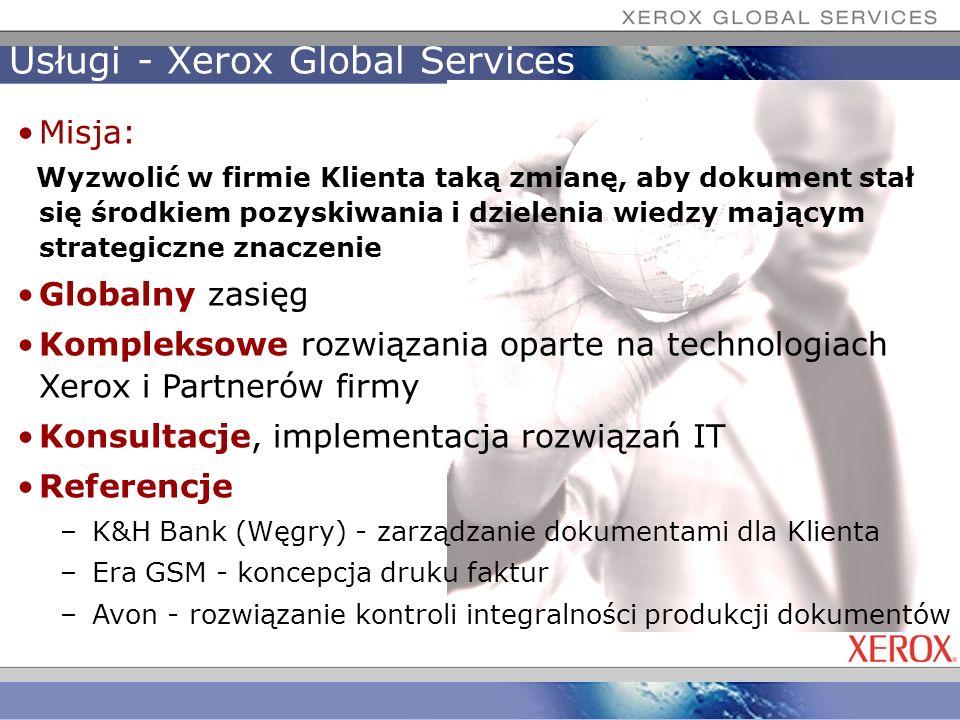 Usługi - Xerox Global Services