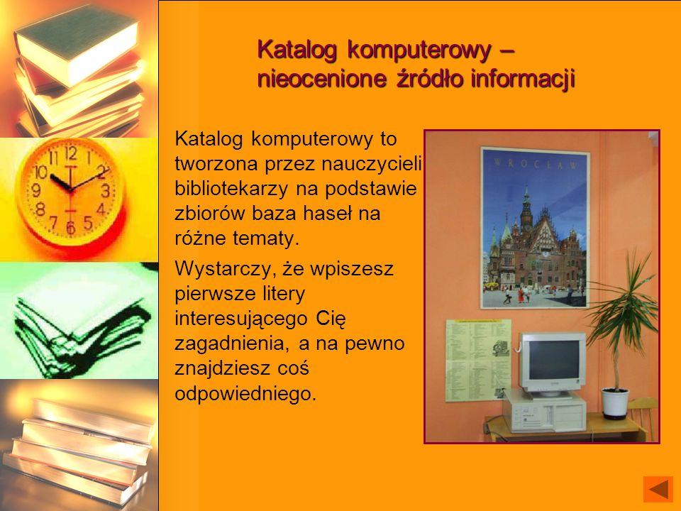 Katalog komputerowy – nieocenione źródło informacji