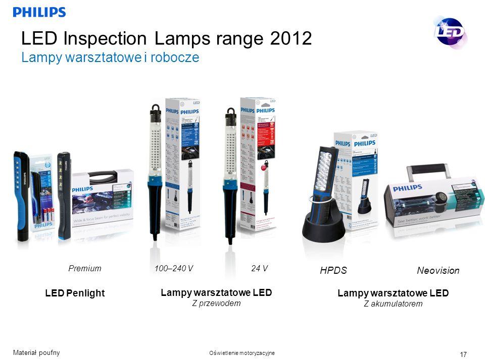 LED Inspection Lamps range 2012 Lampy warsztatowe i robocze