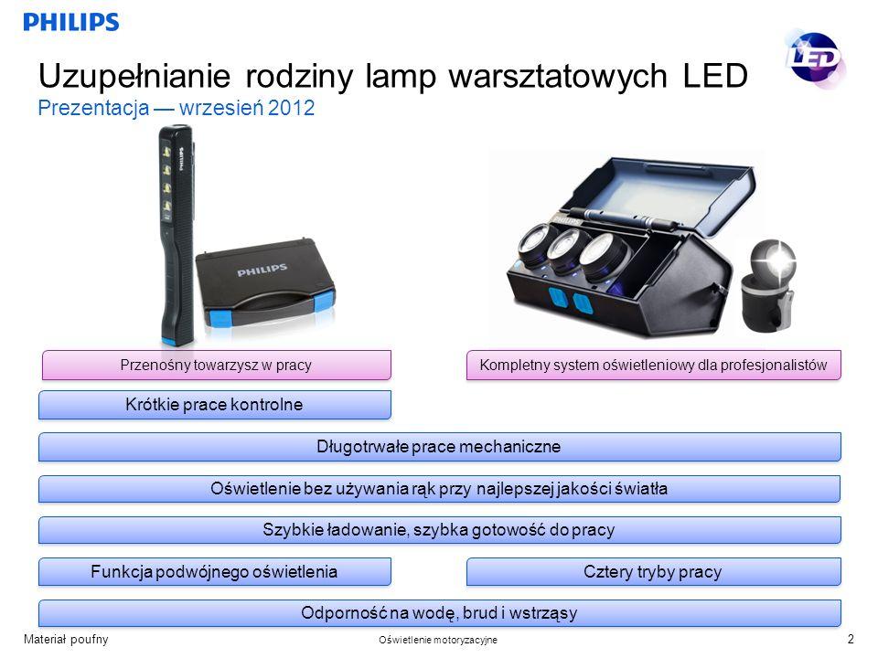 Uzupełnianie rodziny lamp warsztatowych LED Prezentacja — wrzesień 2012