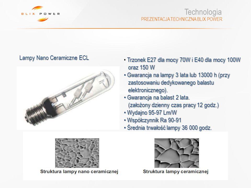 Technologia Lampy Nano Ceramiczne ECL