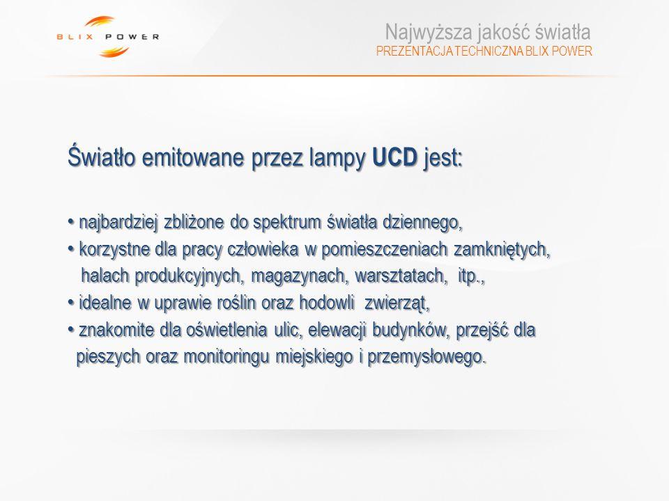 Światło emitowane przez lampy UCD jest: