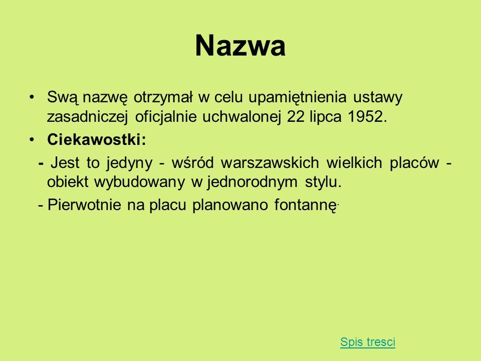 Nazwa Swą nazwę otrzymał w celu upamiętnienia ustawy zasadniczej oficjalnie uchwalonej 22 lipca 1952.