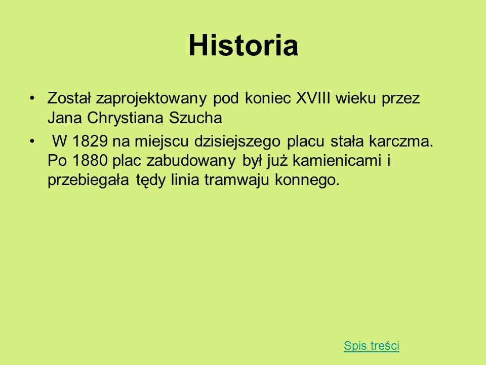Historia Został zaprojektowany pod koniec XVIII wieku przez Jana Chrystiana Szucha.