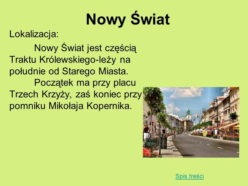 Nowy Świat Lokalizacja: