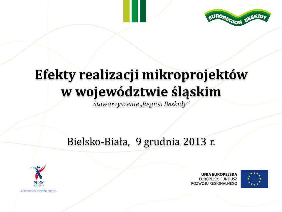 Efekty realizacji mikroprojektów w województwie śląskim