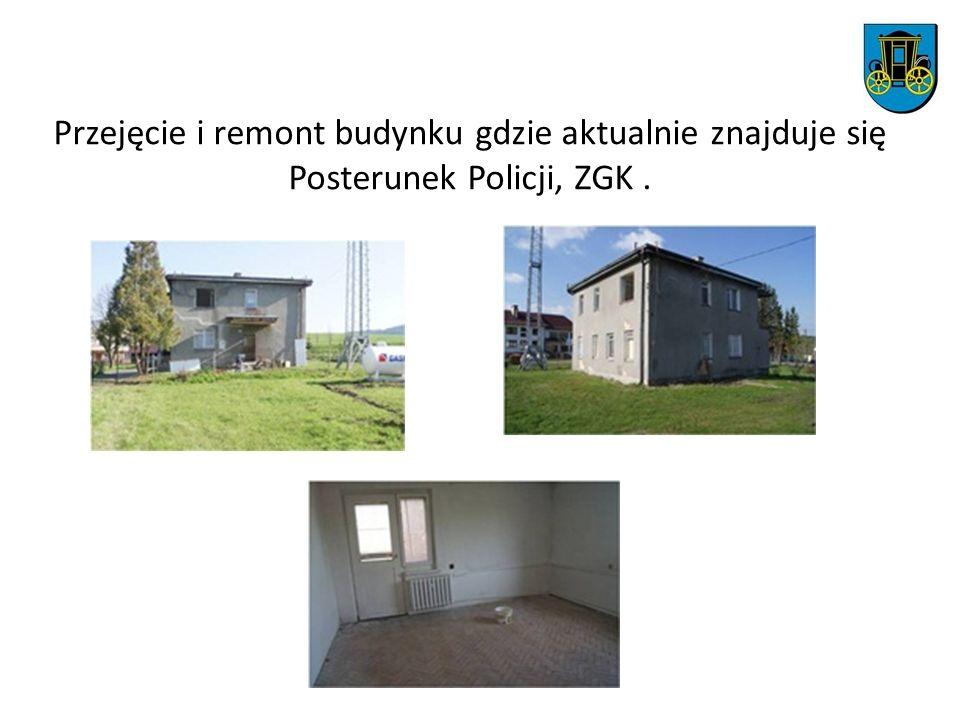 Przejęcie i remont budynku gdzie aktualnie znajduje się Posterunek Policji, ZGK .