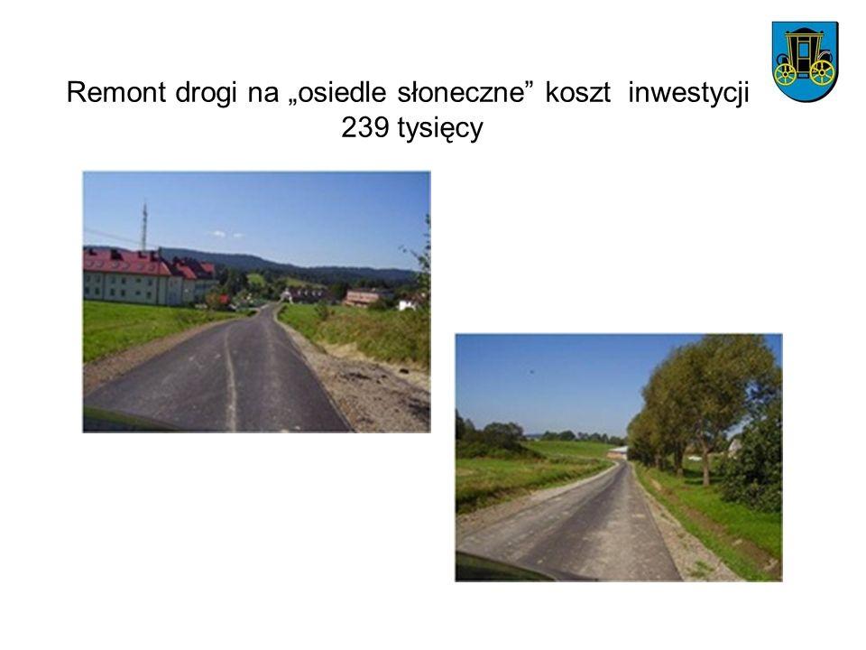 """Remont drogi na """"osiedle słoneczne koszt inwestycji 239 tysięcy"""