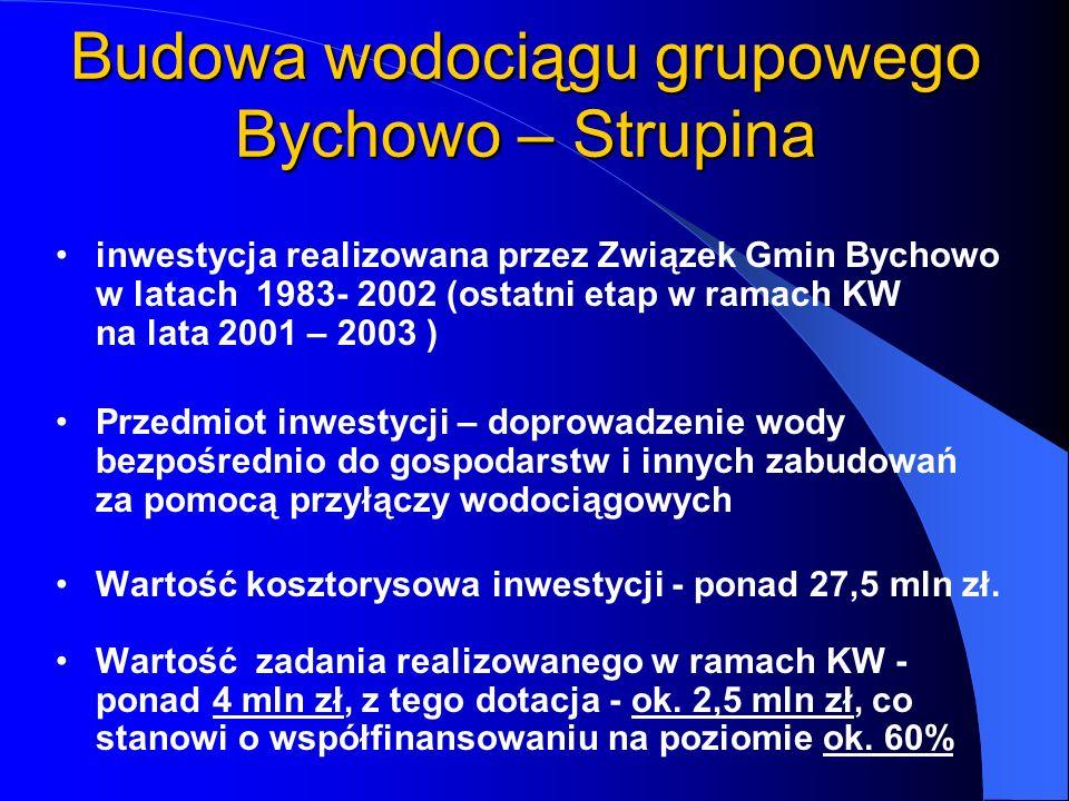 Budowa wodociągu grupowego Bychowo – Strupina