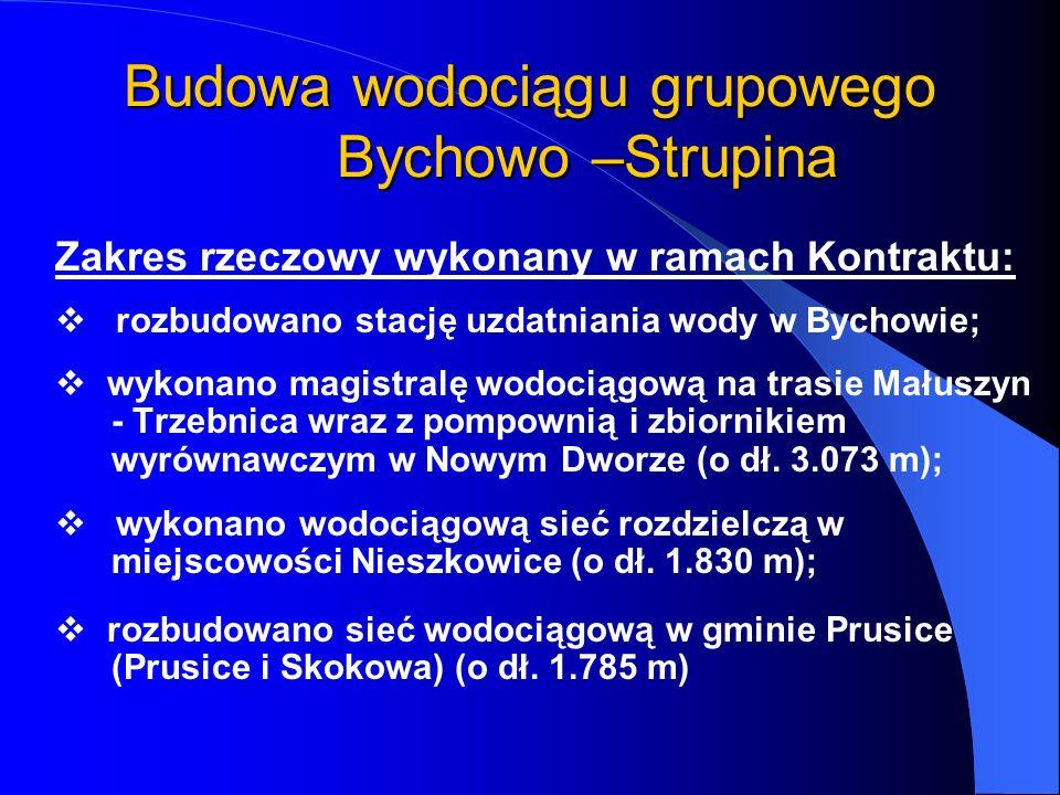 Budowa wodociągu grupowego Bychowo –Strupina