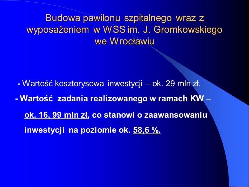 Budowa pawilonu szpitalnego wraz z wyposażeniem w WSS im. J